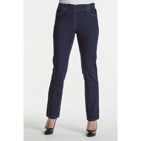 LauRie GUSTI Jeans REGINA, DARK BLUE DENIM,  normal benlængde, pasform REGULAR, model 21012.