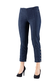 LauRie GUSTI 7/8 Jeans RACHEL, DARK BLUE DENIM, pasform REGULAR, model 24462.