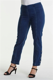 LauRie GUSTI 7/8 Jeans i farven MEDIUM BLUE DENIM, pasform REGULAR, model Polly