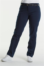 LauRie bukser Haley Regular i farven Navy Denim, normal benlængde,  model 25411.