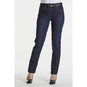 LauRie GUSTI REBECCA bukser med fast talje, pasform REGULAR i farven Dark Blue Denim, model 27412.