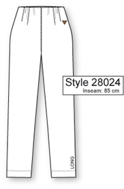 Laurie EMMA Jeans STELLA,  PEBBLE, Lange ben (85 cm.) Pasform STRAIGHT, Model 28024