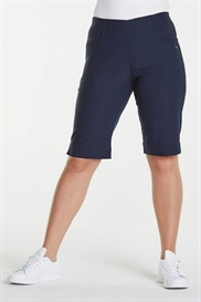LauRie EMMA Shorts i farven NAVY, benlængde 32 cm, pasform REGULAR, model Savannah