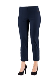 Laurie EMMA RACHEL jeans NAVY, 7/8 med pynteknapper, pasform REGULAR, model 29864