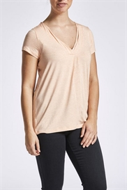 LauRie T-shirt i mélange-jersey i farven apricos