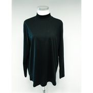 Handberg sort Turtle Neck T-shirt