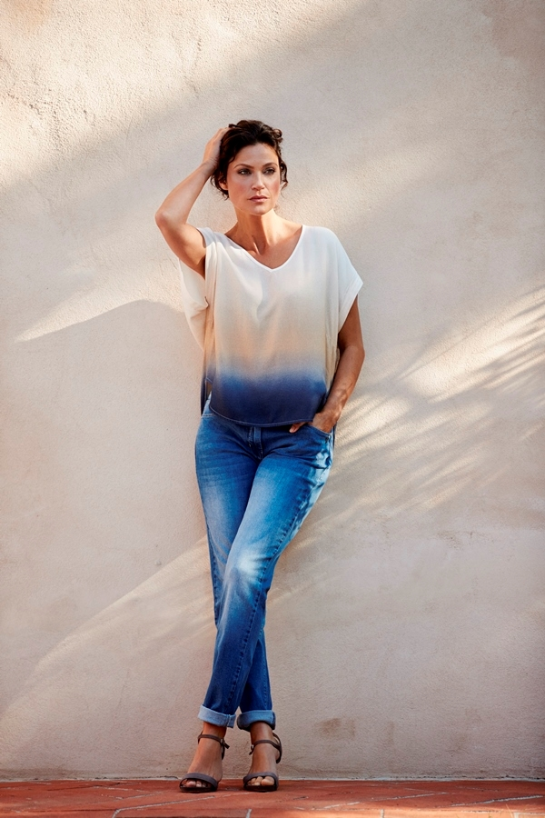 LauRie OCLASSY jeans model Rebecca (REGULAR), farve Blue Denim Washed
