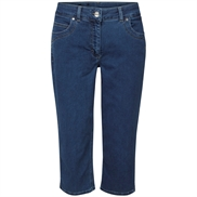 LauRie GUSTI Capri Jeans med lommer i farven Medium Blue Denim, pasform REGULAR, model 244473